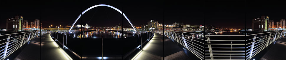 Millennium Bridge, Newcastle, England, 2005