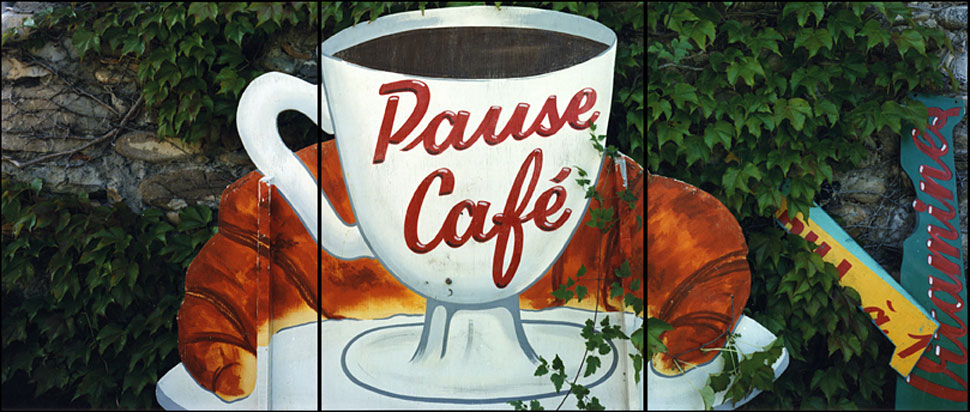 Pause Cafe, Chateau Arnoux, France, 1991